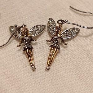 925 gold plated Disney Tinkerbell earrings